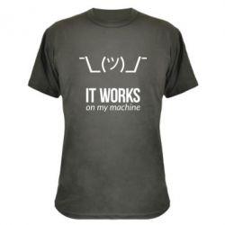 Камуфляжная футболка It works on my machine