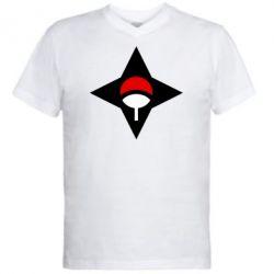 Чоловіча футболка з V-подібним вирізом Itachi Uchiha symbol