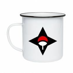 Кружка емальована Itachi Uchiha symbol