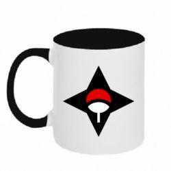 Кружка двоколірна 320ml Itachi Uchiha symbol