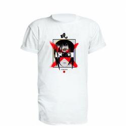 Удлиненная футболка Itachi Uchiha