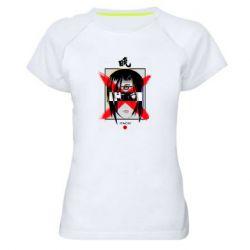 Женская спортивная футболка Itachi Uchiha