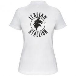 Женская футболка поло Italian Stallion
