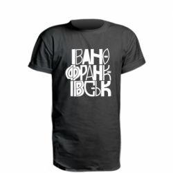 Удлиненная футболка Ivano Frankivsk Lettering