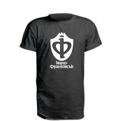 Удлиненная футболка Ивано-Франковск эмблема