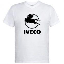 Мужская футболка  с V-образным вырезом IVECO - FatLine