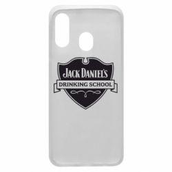 Чехол для Samsung A40 Jack Daniel's Drinkin School