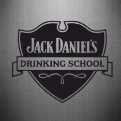 Наклейка Jack Daniel's Drinkin School