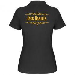 Женская футболка поло Jack Daniel's Logo - FatLine