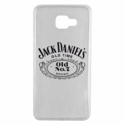 Чехол для Samsung A7 2016 Jack Daniel's Old Time