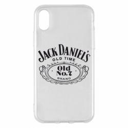 Чехол для iPhone X/Xs Jack Daniel's Old Time
