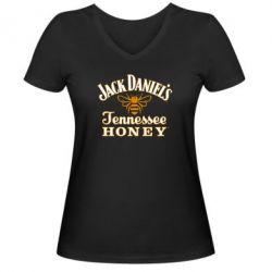 Женская футболка с V-образным вырезом Jack Daniel's Tennessee Honey