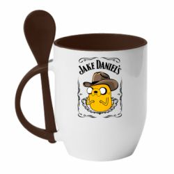 Кружка з керамічною ложкою Jack Daniels Adventure Time