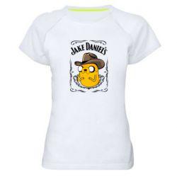 Жіноча спортивна футболка Jack Daniels Adventure Time