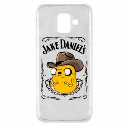 Чохол для Samsung A6 2018 Jack Daniels Adventure Time