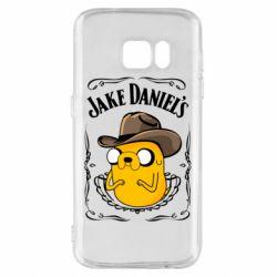 Чохол для Samsung S7 Jack Daniels Adventure Time