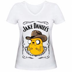 Жіноча футболка з V-подібним вирізом Jack Daniels Adventure Time