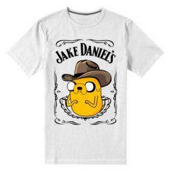 Чоловіча стрейчева футболка Jack Daniels Adventure Time