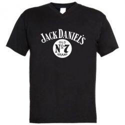 Мужская футболка  с V-образным вырезом Jack - FatLine