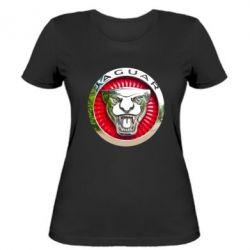 Женская футболка Jaguar emblem