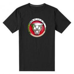 Мужская стрейчевая футболка Jaguar emblem