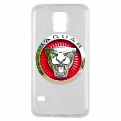 Чехол для Samsung S5 Jaguar emblem