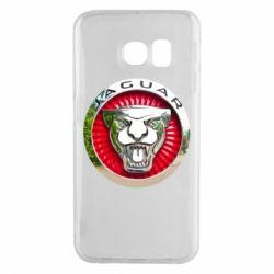 Чехол для Samsung S6 EDGE Jaguar emblem