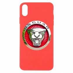 Чехол для iPhone Xs Max Jaguar emblem