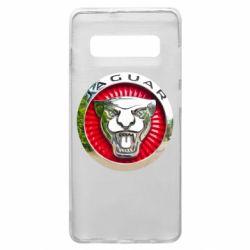 Чехол для Samsung S10+ Jaguar emblem