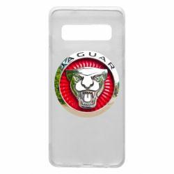 Чехол для Samsung S10 Jaguar emblem