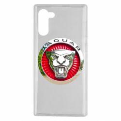 Чехол для Samsung Note 10 Jaguar emblem