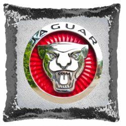 Подушка-хамелеон Jaguar emblem