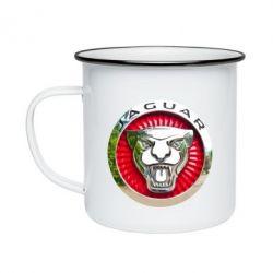 Кружка емальована Jaguar emblem