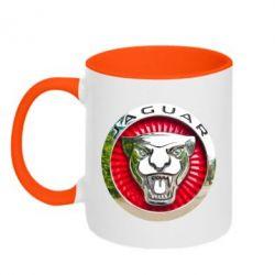 Кружка двухцветная 320ml Jaguar emblem