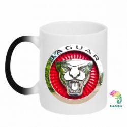 Кружка-хамелеон Jaguar emblem