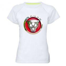 Женская спортивная футболка Jaguar emblem