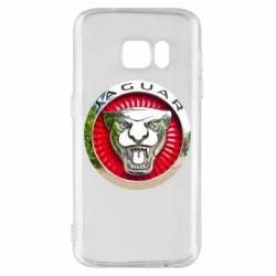 Чехол для Samsung S7 Jaguar emblem