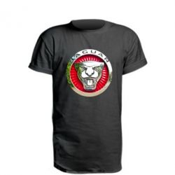Удлиненная футболка Jaguar emblem