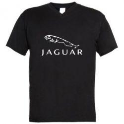 Мужская футболка  с V-образным вырезом Jaguar - FatLine