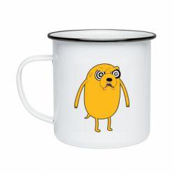 Кружка емальована Jake from  Adventure Time