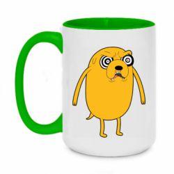 Кружка двоколірна 420ml Jake from  Adventure Time
