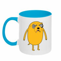 Кружка двоколірна 320ml Jake from  Adventure Time