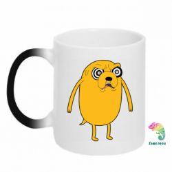 Кружка-хамелеон Jake from  Adventure Time