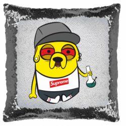 Подушка-хамелеон Jake with bong