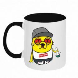 Кружка двухцветная Jake with bong - FatLine