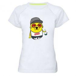 Женская спортивная футболка Jake with bong - FatLine