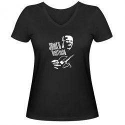 Женская футболка с V-образным вырезом James Hetfield - FatLine