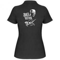 Женская футболка поло James Hetfield - FatLine