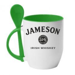 Кружка з керамічною ложкою Jameson Whiskey