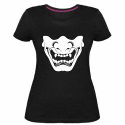 Женская стрейчевая футболка Japanese mask